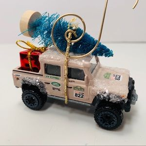 Christmas Ornament Hot Wheels Land Rover Defender